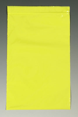 """3"""" x 4"""" Our Own Brand Colored Zipper Bag - Yellow (2 mil)"""