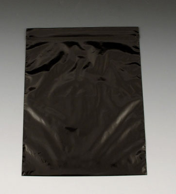 """3"""" x 3"""" Our Own Brand Colored Zipper Bag - Black (2 mil)"""