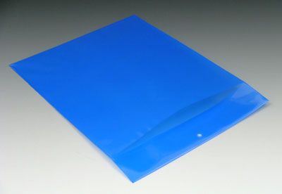 "6"" x 9"" Polyethylene Routing Envelope with Slit Opening and Hang Hole - Blue (6 mil)"
