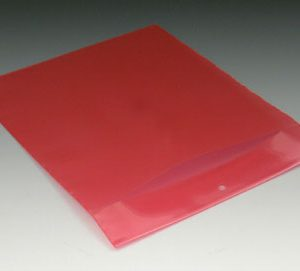 "6"" x 9"" Polyethylene Routing Envelope with Slit Opening and Hang Hole - Red (6 mil)"