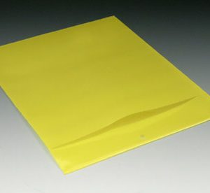 "9-1/4"" x 12"" Polyethylene Routing Envelope with Slit Opening and Hang Hole - Yellow (6 mil)"
