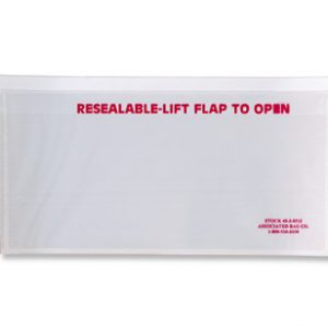 "10"" x 5-1/2"" Front-Loading Packing List Envelope with Recessed Face and ""Resealable"" Message"