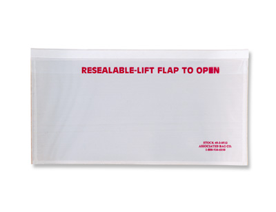 """10"""" x 5-1/2"""" Front-Loading Packing List Envelope with Recessed Face and """"Resealable"""" Message"""