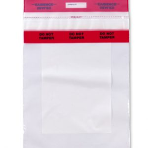 "9"" x 12"" Tamper-Evident Write-on® Evidence Bag (3 mil)"