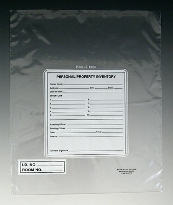 "10"" x 12"" Write-on® Personal Property Bag (2 mil)"