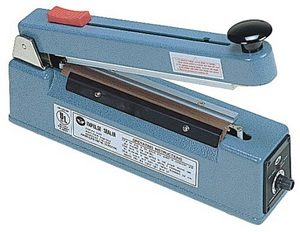 "8"" Impulse Poly Bag Sealer w/ Cutter 8 mil Thickness 5 mm width 600W - AIE-205C"