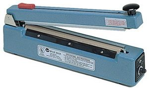 "12"" Impulse Poly Bag Sealer w/ Cutter 6 mil Thickness 2mm width 500W - AIE-300C"