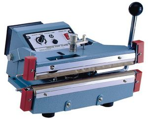 "12"" Manual Double Hand Sealer 20 mil Thickness 5mm Width and 1500W - AIE-305HD"