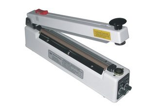 "12"" Magnetic Hold Bag Sealer w/ Cutter 6mil Thickness 2mm Width 400 W - AIE-300MC"