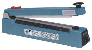 "20"" Impulse Poly Bag Sealer w/ Cutter 10 mil Thickness 2 mm Width 900 W - AIE-500C"