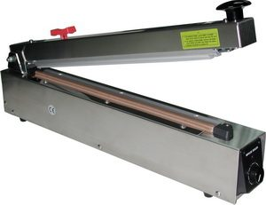 Waterproof Stainless Steel Impulse Hand Poly Bag Sealer w/ Cutter 400mm - AIE-400HCS