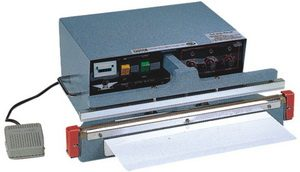 "14"" Automatic Single Impulse Poly Bag Sealer 8 mil Seal 5mm Width 1000W - AIE-305A1"