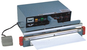 """24"""" Automatic Single Impulse Poly Bag Sealer 8 mil Thickness- 5 mm Width 1500W - AIE-605A1"""