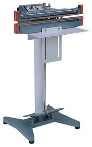 """12"""" Seal and Cut Double Impulse Foot Poly Bag Sealer 20 mil Thickness 2mm Width 1500 W - AIE-300FDC"""