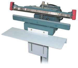 "18"" Upper Jaw Impulse Foot Poly Bag Sealer 8 mil Thickness 10 mm Width and 1200 W - AIE410FIU"