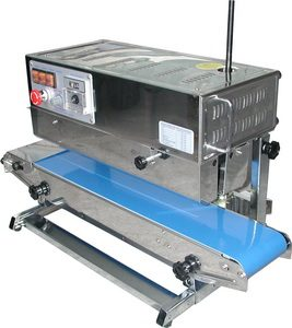 Stainless Steel Band Poly Bag Sealer (Vertical & Right to Left) - AIE-882BSL