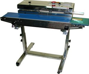 Stainless Steel Band Poly Bag Sealer (Vertical) W/ Stand- - AIE-883BS