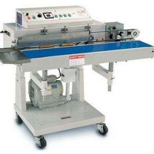 Suction Continous Band Poly Bag Sealer Conveyour Belt w/ Printer - AIE-B7209