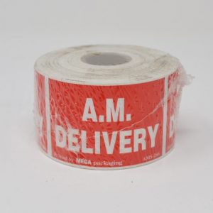 """2"""" X 3"""" AM Delivery Labels - (500 Lables/Roll)"""