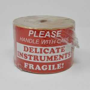 """3"""" X 5"""" Please Handle With Care """"Delicate Instruments"""" Fragile Label (500/Roll)"""