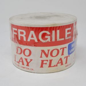 """3"""" X 5"""" Fragile Do Not Lay Flat  Label (500 Labels/Roll)"""