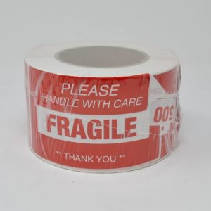 """3"""" X 5"""" Fragile Please Handle with Care Label - (500 Labels/Roll)"""