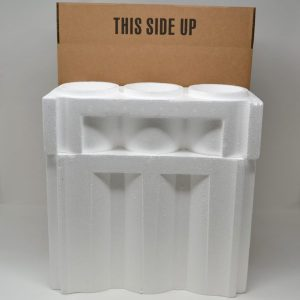 3 Bottle Styrofoam Wine Shipping Cooler and Box (1 Set)