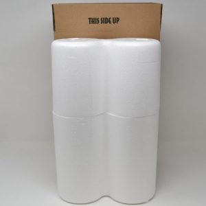 2 Bottle Styrofoam Wine Shipping Cooler and Box (1 Set)