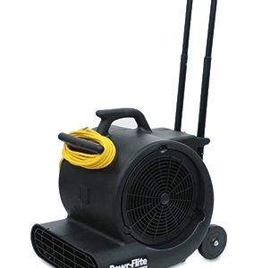 Powr-Flite Portable Carpet Dryer Blower with Handle and Wheels - 1/2 HP (1 Blower) - AB-100-11
