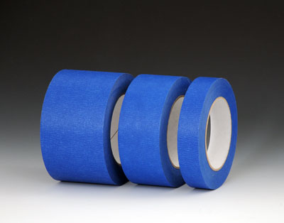 "1"" x 180'  Blue Painters' Masking Tape - 25 lb. Tensile Strength"