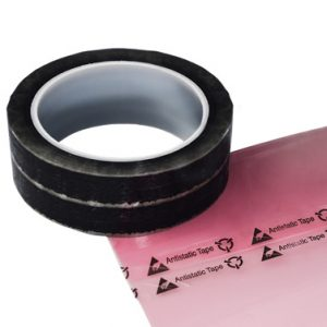 "1/2"" x 216' Anti-Static Clear Cellophane Tape with Printed Message"