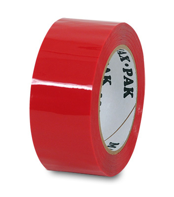"2"" x 330' Acrylic Adhesive Carton Sealing Tape - Red (2 mil)"