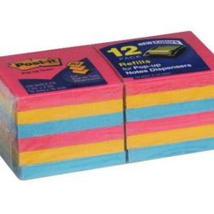 "3"" x 3"" 3M™ Post-It® Pop-Up Notes - Neon"