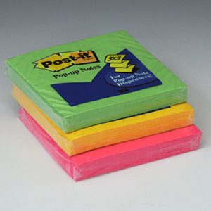 "3"" x 3"" 3M™ Post-It® Pop-Up Notes - Ultra"