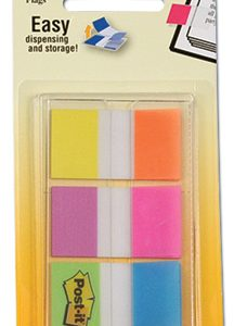 "1"" 3M™ Post-It® Flags - Electric Glow Alternating Colors (60 Flag per Pack)"