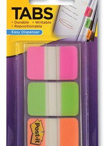 "1"" 3M™ Post-It® Tabs - Bright Colors (66 Tabs per Pack)"