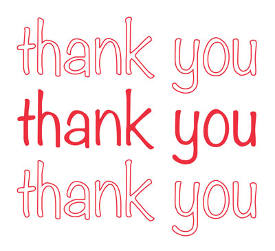 """12"""" x 7"""" x 23"""" High Density T-Shirt Bag with """"Thank You"""" in Script Print - White (.5 mil)"""