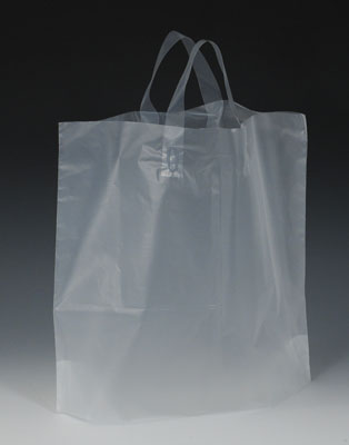 "12"" x 10"" High Density Shopper with 4"" Bottom Gusset - Lime Green (2.25 mil)"