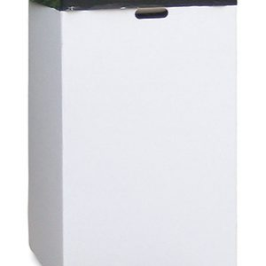 """18"""" x 18"""" x 30"""" Corrugated Trash Container - White (200-lb. Test / 32-lb. ECT)"""