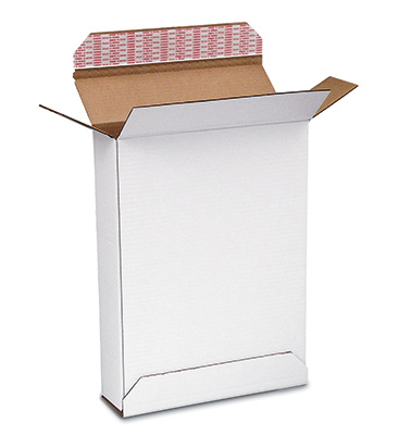 "10-7/8"" x 2"" x 12-1/4"" Overnight Shipping Box - White (200-lb. Test / 32-lb. ECT)"