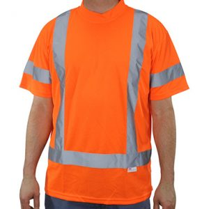 High Visibility Fluorescent Orange Class 3 Mesh T-Shirt - Large