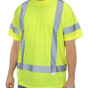 High Visibility Fluorescent Yellow Class 3 Mesh T-Shirt - Large