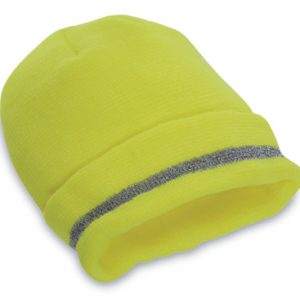 High Visibility Fluorescent Yellow Knit Beanie Hat - Class 2 Headwear - One Size
