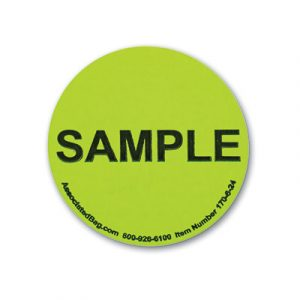 """2"""" Round Shipping Labels - """"Sample"""" Message (500 Labels)"""