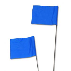 "2-1/2"" x 3-1/2"" x  21"" Wire Stake Flag - Blue"