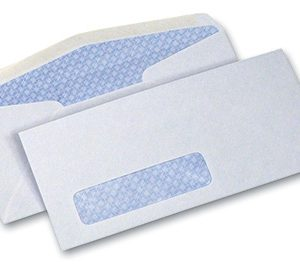 "4-1/8"" x 9-1/2"" Security Tinted Business Envelope #10 with Window - White (24 lb.)"