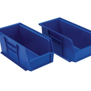 "5-1/2"" x 10-7/8"" x 5"" Stackable Polypropylene Bins"