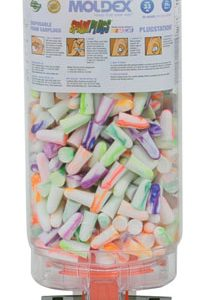 Moldex® Sparkplugs® Earplugs in PlugStation® Dispenser (500 Pairs per Dispenser)