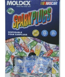 Moldex® Sparkplugs® Earplugs in PlugStation® Dispenser Box - Uncorded (200 Pairs per Dispenser)