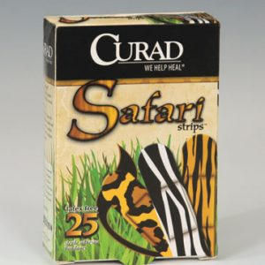 "3/4"" x 3"" Curad® Safari Strips Latex-Free Bandages"